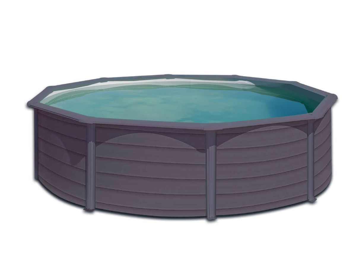 Piscine acier 4 60 h 1 20 graphite cash piscines for Avis cash piscine