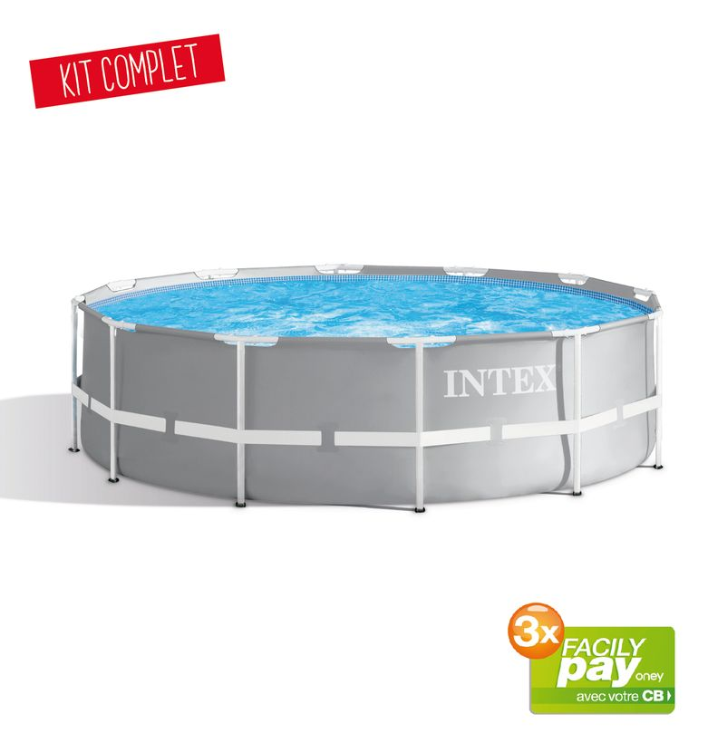 PISCINE INTEX PRISM 3,66x1,22 GRISE