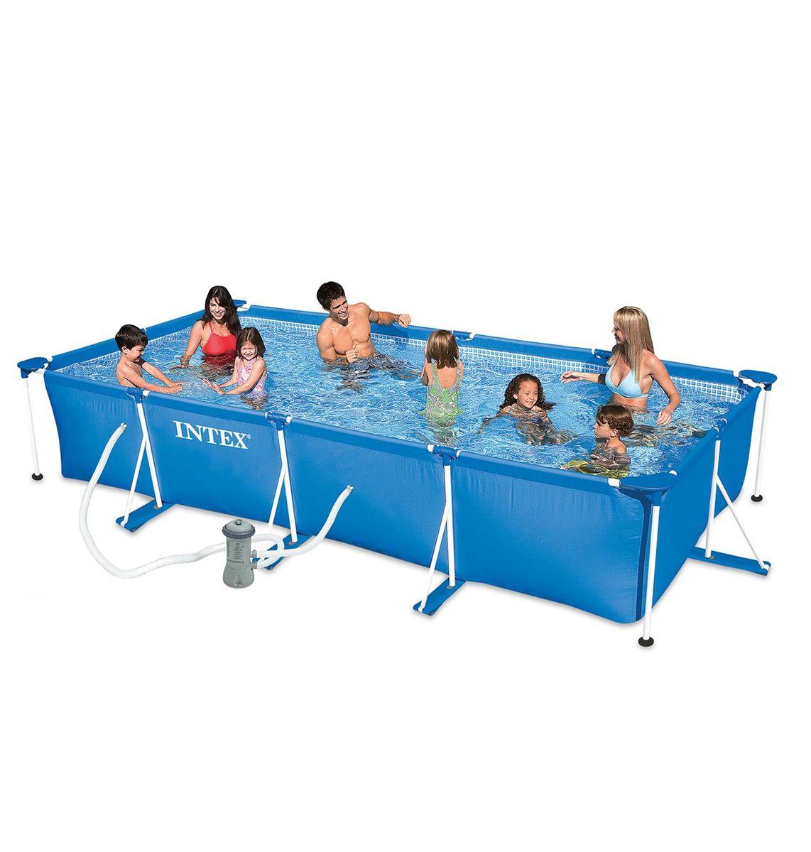 PISCINE INTEX METAL FRAME JUNIOR RECT. 4,50x2,20 H 0,84