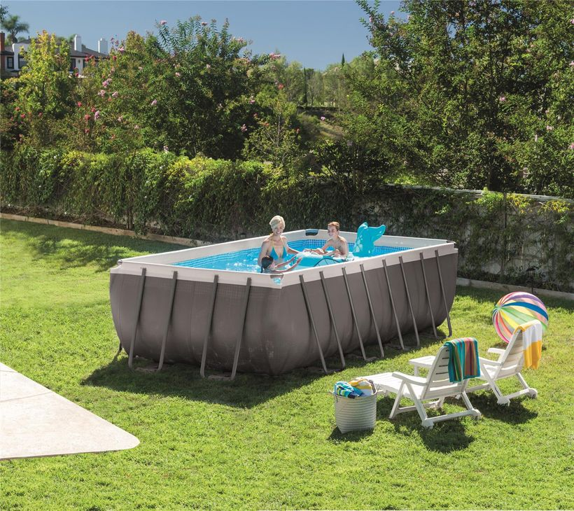 Piscine intex ultra silver rect 4 57x2 74x1 22 filtre a for Filtre piscine intex